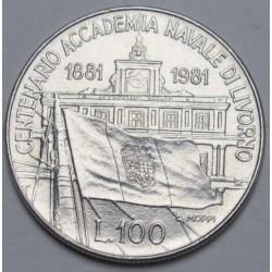100 lire 1981 - Navy Academy of Livorno