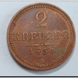 2 kreuzer 1851 A