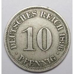 10 pfennig 1896 A