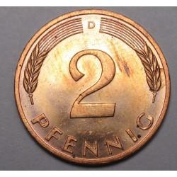 2 pfennig 1983 D