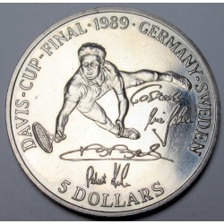 5 dollars 1989 - Davis Cup