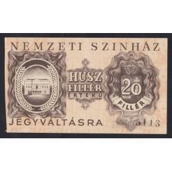 20 fillér 1919 - Nemzeti Színház