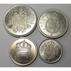 100-50-25-5 pesetas set
