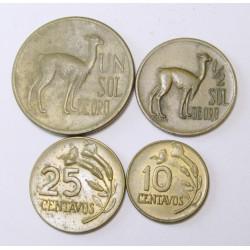 1-1/2 sol -25-10 centavos set
