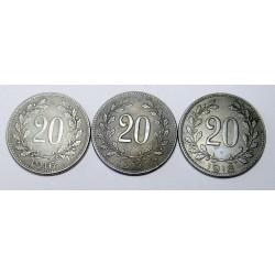 20 heller set 1916-1918