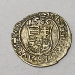 Maximilian II. denar 1566 KB