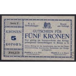 5 kronen 1918 - Kriegsgefangenenlager Brunn am Gebirge