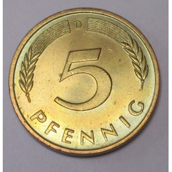 5 pfennig 1984 D