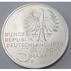 5 mark 1974 D - 250th anniversary of the birth of Immanuel Kant