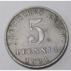5 pfennig 1921 A