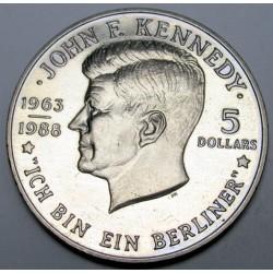 5 dollars 1988 - Kennedy Ich bin ein Berliner