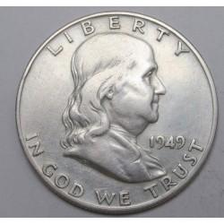 Franklin half dollar 1949