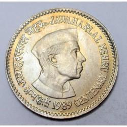1 rupee 1989 - Jawaharlal Nehru