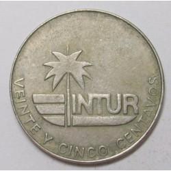 25 centavos 1981 - Intur