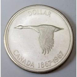 1 dollar 1967 - Canada 100 years