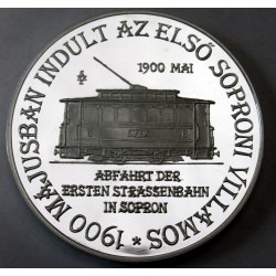 Commeorative coin - The first tram in Sopron started in 1900