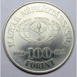 100 forint 1984 - Forestry Congress