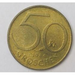 50 groschen 1986