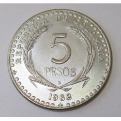 5 pesos 1968 - 39th International Eucharistic Congress