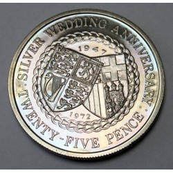 25 pence 1972 PP - 25th anniversary of the royal wedding
