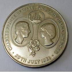 25 pence 1981 - Charles and Dinana wedding