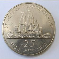 25 pence 1973 - Tercentenary of restored British Rule