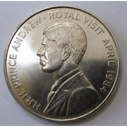 50 pence 1984 - Prince Andrew's visit