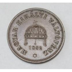 1 fillér 1892