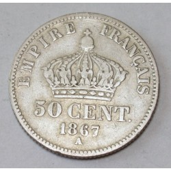 50 cents 1867 A