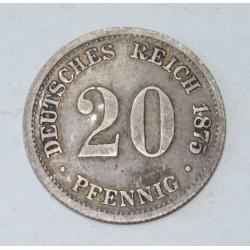 20 pfennig 1875 D