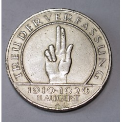 3 reichsmark 1929 A - 10th Anniversary of the Weimar Constitution