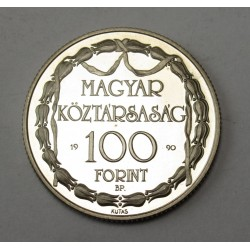 100 forint 1990 PP - 200 years of acting