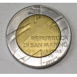 500 lire 1990 - 1600 éves San Marino