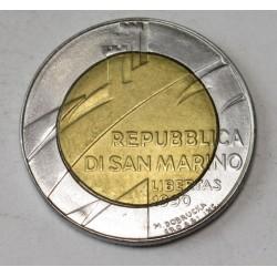 500 lire 1990 - 1600 years San Marino