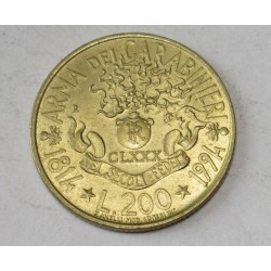 200 lire 1994 - 180 years the police