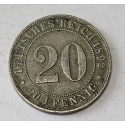20 pfennig 1892