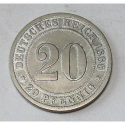 20 pfennig 1888 F