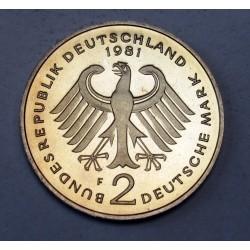 2 mark 1981 F PP Konrad Adenauer
