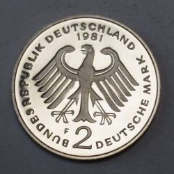 2 mark 1981 F PP Theodor Heuss