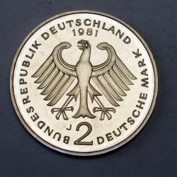 2 mark 1981 J PP Theodor Heuss