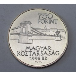 750 forint 1998 - 125 years Budapest
