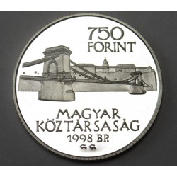 750 forint 1998 PP - 125 years Budapest
