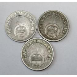 10 fillér 1940-41-42 set