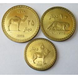 5-10-25 dinars 2008 - Darfur Sultanate set