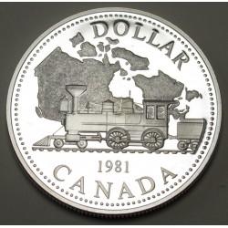 1 dollar 1981 PP - Transcanadanian railway