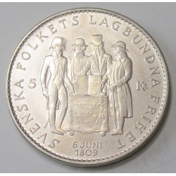 5 kronor 1959 - 150 years of the Swedish Constitution