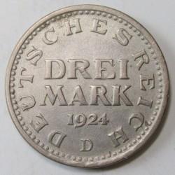 3 mark 1924 D