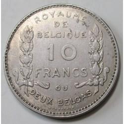 10 francs 1930 - Belgian independence
