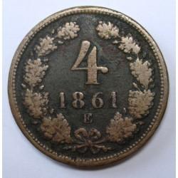 4 krajcár 1861 E
