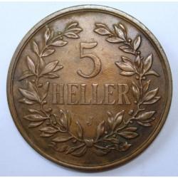 5 heller 1908